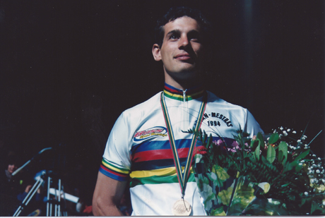 Photo of Tony Muse winning the Inline Speed Skating Championships