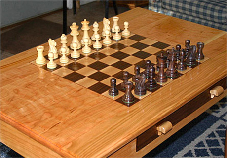 Hand crafted wood chess set by Mark Arrow